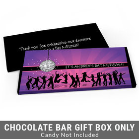 Deluxe Personalized Disco Dance Bat Mitzvah Candy Bar Cover