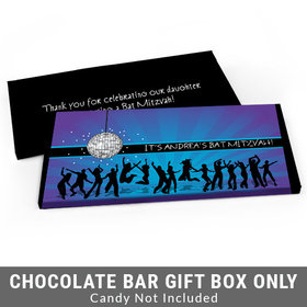Deluxe Personalized Disco Dance Bat Mitzvah Candy Bar Favor Box