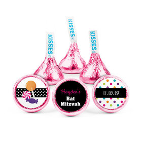 Personalized Bat Mitzvah Polka Dot Hershey's Kisses (50 pack)