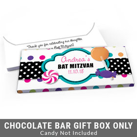 Deluxe Personalized Candy Shop Bat Mitzvah Candy Bar Favor Box