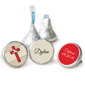 "Confirmation 3/4"" Sticker Red Cross and Dove (108 Stickers)"