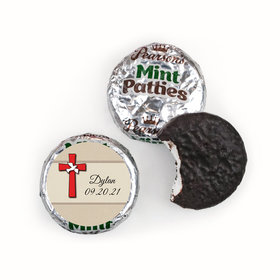 Confirmation Personalized Pearson's Mint Patties Red Cross and Dove