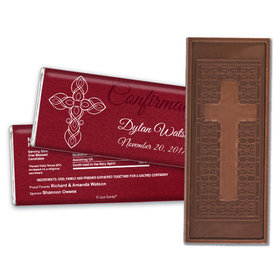 Crimson Cross Personalized Hershey's Bar Assembled