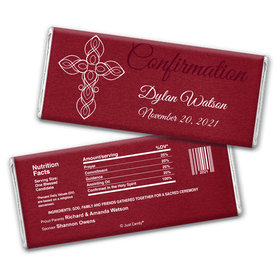 Crimson Cross Personalized Candy Bar - Wrapper Only