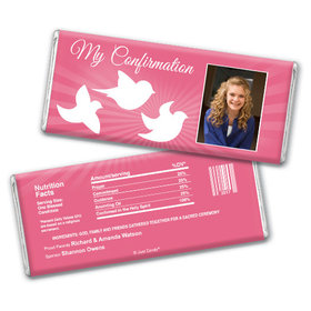 Confirmation Personalized Chocolate Bar Peace Doves