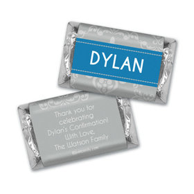 Fluer de Lis Cross Confirmation Personalized Miniature Wrappers