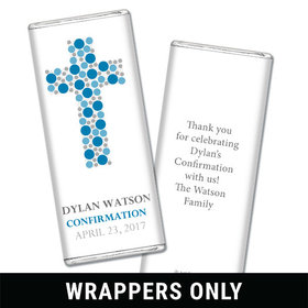 Stepping Stones Confirmation Personalized Candy Bar - Wrapper Only