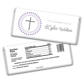 Radiant Cross Confirmation Personalized Candy Bar - Wrapper Only