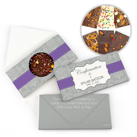 Personalized Ribbon Confirmation Gourmet Infused Belgian Chocolate Bars (3.5oz)