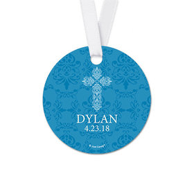 Personalized Elegant Cross Confirmation Round Favor Gift Tags (20 Pack)