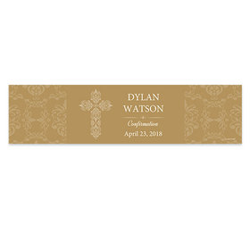 Personalized Confirmation Elegant Cross Banner