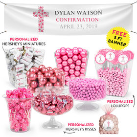 Personalized Girl Confirmation Stones Cross Deluxe Candy Buffet
