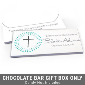 Deluxe Personalized Radiating Cross Confirmation Candy Bar Favor Box
