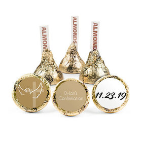 Personalized Girl Confirmation Cross & Dove Hershey's Kisses (50 pack)