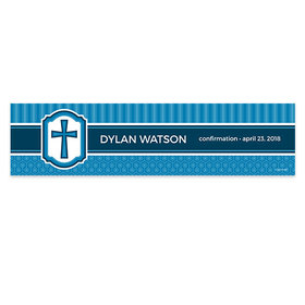 Personalized Confirmation Engraved Cross 5 Ft. Banner