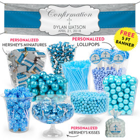 Personalized Boy Confirmation Classic Cross Deluxe Candy Buffet