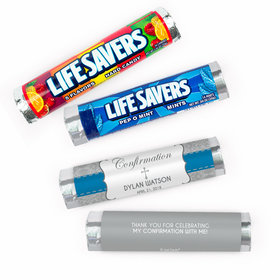 Personalized Confirmation Ribbon Lifesavers Rolls (20 Rolls)
