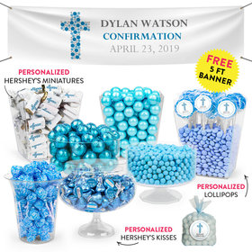 Personalized Boy Confirmation Stones Cross Deluxe Candy Buffet