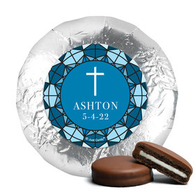 Personalized Confirmation Stain Glass Chocolate Covered Foil Oreos (24 Pack)