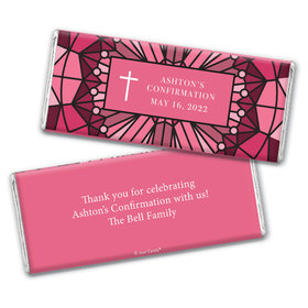 Personalized Confirmation Stained Glass Chocolate Bar