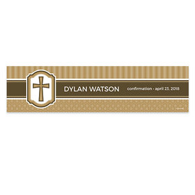 Personalized Confirmation Engraved Cross Banner