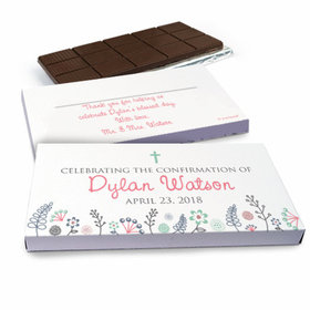 Deluxe Personalized Confirmation Garden of Blessings Chocolate Bar in Gift Box (3oz Bar)