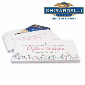 Deluxe Personalized Garden of Blessings Confirmation Ghirardelli Chocolate Bar in Gift Box