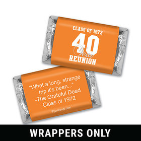 Class Reunion Personalized HERSHEY'S MINIATURES Wrappers Milestone