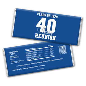 Varsity Reunion Personalized Candy Bar - Wrapper Only
