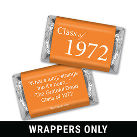 Class Reunion Personalized HERSHEY'S MINIATURES Wrappers Graduation Class Of
