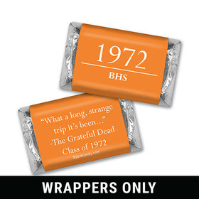 Class Reunion Personalized HERSHEY'S MINIATURES Wrappers Graduation Year