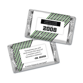 Class Reunion Personalized HERSHEY'S MINIATURES Wrappers School Spirit Stripes