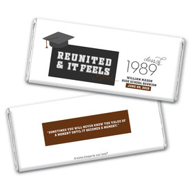 Personalized Class Reunion Reunited & It Feels So Good Hershey's Chocolate Bar & Wrapper