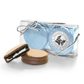 Personalized Graduation School Logo 2PK Chocolate Covered Oreo Cookies