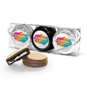 Personalized Add Your Artwork 3PK Belgian Chocolate Covered Oreo Cookies
