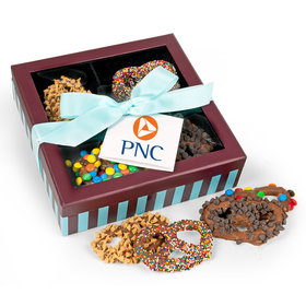 Personalized Add Your Logo Chocolate Covered Pretzels Gift Box (13 pieces)