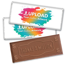 Personalized Thanks A Million Embossed Chocolate Bar- Add Your Custom Artwork