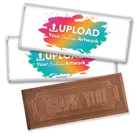 Personalized Thank You Embossed Chocolate Bar- Add Your Custom Artwork