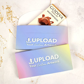 Deluxe Personalized Add Your Artwork Godiva Chocolate Bar in Gift Box