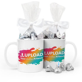 Personalized Add Your Artwork 11oz Mug with Hershey's Kisses