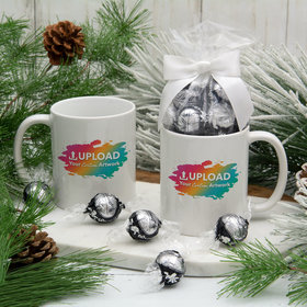 Personalized Add Your Artwork 11oz Mug with Lindt Truffles