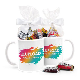 Personalized Add Your Artwork 15oz Mug with Hershey's Miniatures