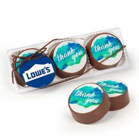 Personalized Thank You Add Your Logo Gourmet Belgian Chocolate Covered Oreos 3pk