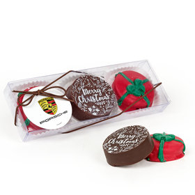 Personalized Christmas Presents Add Your Logo Gourmet Belgian Chocolate Covered Oreos 3pk