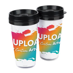 Personalized Add Your Artwork Travel Mug