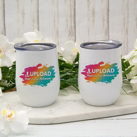 Personalized 12oz Wine Tumbler - Add Your Artwork