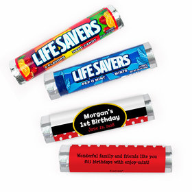 Personalized First Birthday Personalized Mickey Mouse Lifesavers Rolls (20 Rolls)