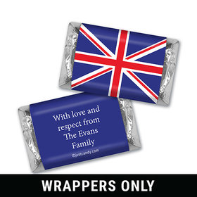 Olympic Party Favor Personalized HERSHEY'S MINIATURES Wrappers British Flag from England