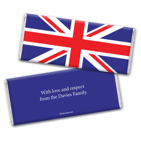 British Flag Personalized Candy Bar - Wrapper Only