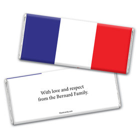 French Flag Personalized Candy Bar - Wrapper Only